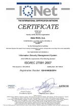 Certificado ISO 27001 iqnet