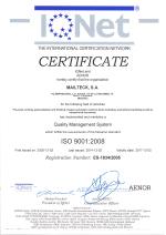 Certificado ISO 9001 IQNET