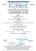 Certificado gestión ambiental ISO 14001 IQNET