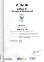 Certificado gestión ambiental ISO 14001